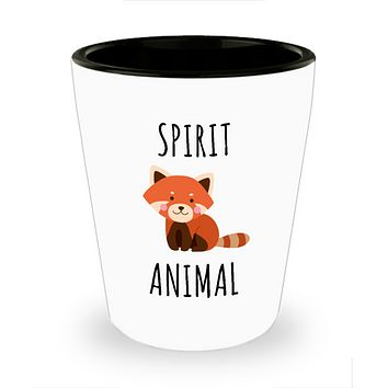 Fox Spirit Animal Shot Glass Cute Ceramic Foxes Gifts