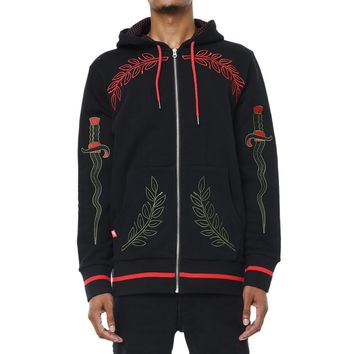 Eulogy Embroidered Hooded Sweatshirt Black