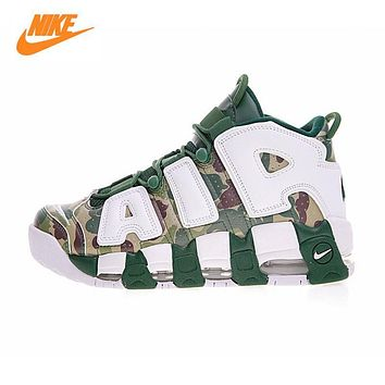 Original Nike Air More Uptempo Hoop Pack Breathable Basketball Shoes Sports Sneakers Trainers 921948-602