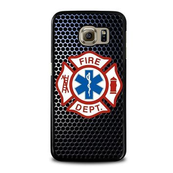 emt ems fire department samsung galaxy s6 case cover  number 1