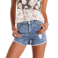 "Refuge ""Hi-Rise Cheeky"" High-Waisted Denim Shorts"