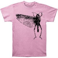 Locust Men's  Pink Bug T-shirt Pink