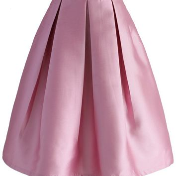 All Time Essential Pleated Skirt in Pink