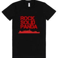 Rock Solid Panda-Female Black T-Shirt