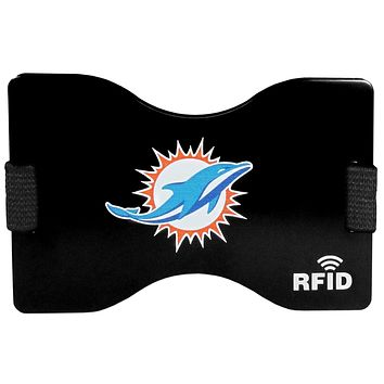 Miami Dolphins RFID Blocking Wallet and Money Clip