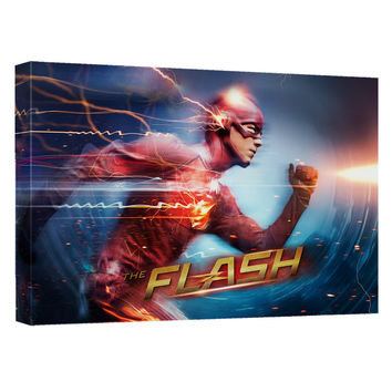 The Flash TV Show Fastest Man Stretched Canvas Wall Art