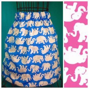 Custom Lilly Pulitzer Pop Pink Tusk In Sun Skirt