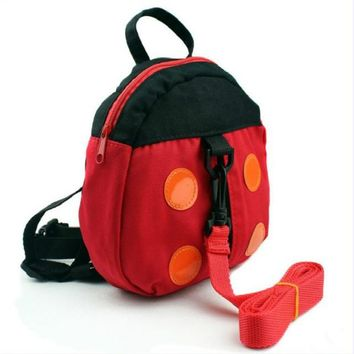Toddler Backpack class  Cute Ladybug Bat Anti lost Kids Baby Backpack Cartoon Children Walking Safety Harness With Strap AT_50_3