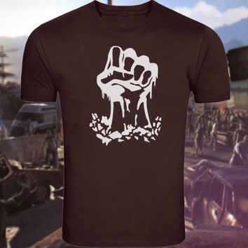 Dying Light PS4 Rahim Inspired TShirt Fist Graffiti Image Screenprinted by KBD