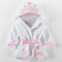 Baby Aspen Little Princess Hooded Spa Robe - 0 - 9 Months