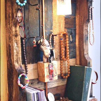 Jewelry Organizer Display made from upcycled pallet by RustedCreek