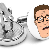 Hank King of the Hill Cufflinks