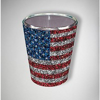 Glitter American Flag Shot Glass - Spencer's