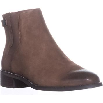 Franco Sarto Brandy Flat Casual Ankle Boots, Mushroom, 9 W US