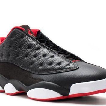 PEAPN Ready Stock Nike Air Jordan 13 Retro Low Bred Black Metallic Gold University Red White Basketball Sport Shoes