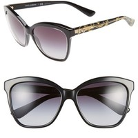 Women's Dolce&Gabbana 57mm Retro Sunglasses