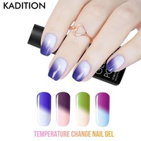 KADITION Temperature Change Color Gel Nail Polish Manicure Soak Off Lucky UV Gel Nail Art Chameleon Thermo Nail Gel Varnishes