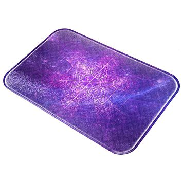Sacred Geometry Metatron Cube Map of Creation All Over Glass Cutting Board