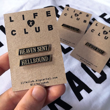 HEAVEN SENT & HELLBOUND Enamel Pins -Life Club- enamel pins, lapel pin, pin, pins, hat pin, pin badge, accessories, badges, punk