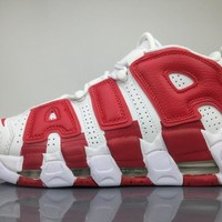 Nike Air More Uptempo Shoes White/Red 414962-100