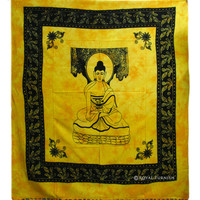 Queen Size Indian Buddha Cotton Tapestry & Wall Hanging