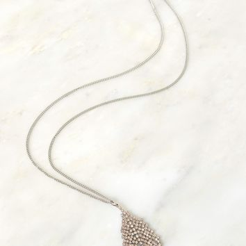Leaf Me Be Necklace Silver