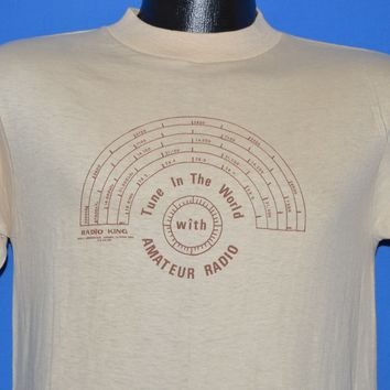 70s Tune Into The World Amateur Radio t-shirt Small