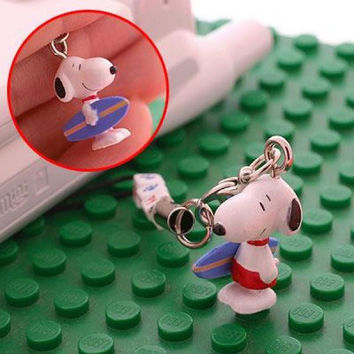 Snoopy Happy Hobby Phone Strap Surfer