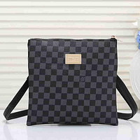 Louis Vuitton LV Men Fashion Office Leather Crossbody Satchel Shoulder Bag