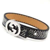 GUCCI New fashion snake grain couple bracelet Black
