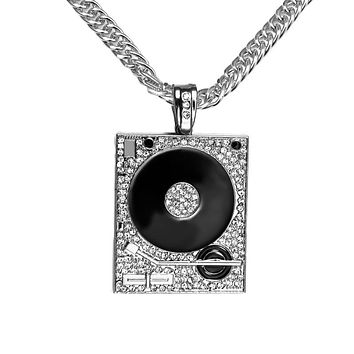 Vintage Record Player Pendant