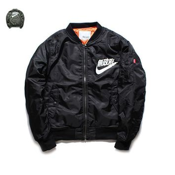 AUGUAU Sons of Anarchy NIKE chinesse writing bomber jacket