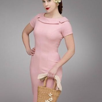 Sue Vintage Inspired Pencil Dress  - Custom Sizing