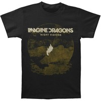 Imagine Dragons Men's  Flame Black T-shirt Black