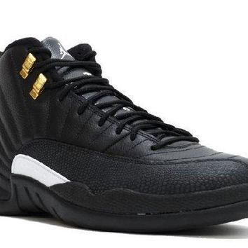 PEAPN Ready Stock Nike Air Jordan 12 Retro The Master Black White Metallic Gold Basketball Sport Shoes