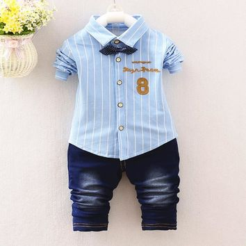 Gentleman Style Kids Lovely beard  Shirt+Pants