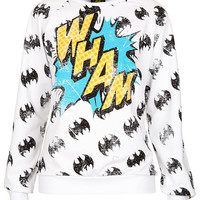 Batman 'Wham' Sweat - Jersey Tops - Clothing - Topshop USA