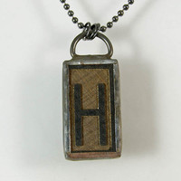 Letter H Pendant Necklace