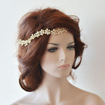Wedding Headband, Bridal Pearl Hair Vine, Bridal Headband, Bridal Hair Accessories, Wedding Hair Accessories
