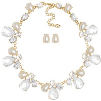 Maralyn Necklace Set in Pearl
