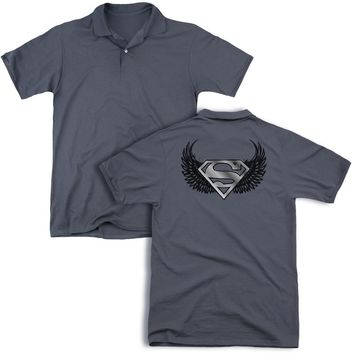 Superman - Dirty Wings (Back Print) Mens Regular Fit Polo