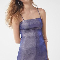 UO Sparkle Moon Beam Empire Waist Mini Dress | Urban Outfitters