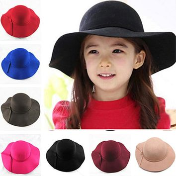 New Fedora polyester Felt Crushable Wide Brim Cloche Floppy Sun Beach Cap