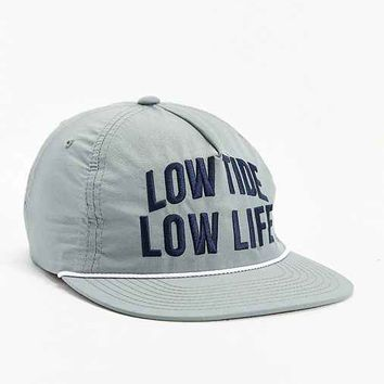 Dark Seas Aground Snapback Hat- Grey One