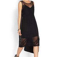 Lace & Mesh Shift Dress