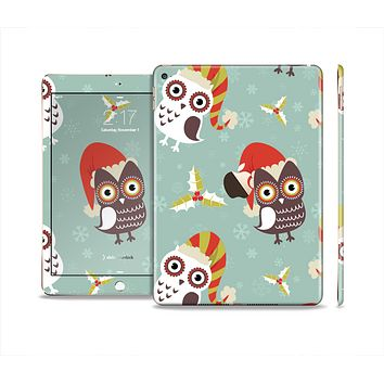 The Abstract Vintage Christmas Owls Skin Set for the Apple iPad Air 2