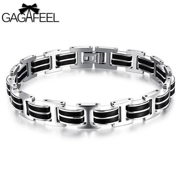 GAGAFEEL Stainless Steel Bracelets Bangles Punk Jewelry