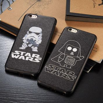 Star Wars Stormtrooper & Darth Vader Black Phone Case