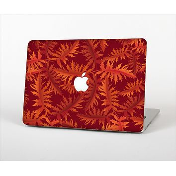 The Vector Fall Red Branches Skin Set for the Apple MacBook Pro 13""