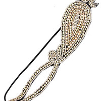 Emma Beaded Rhinestone Stretch Headband